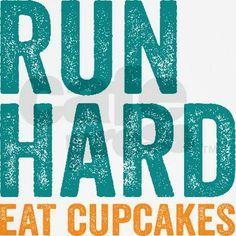 Run Hard Eat Cupcakes Tank Top #running #fitness #motivation