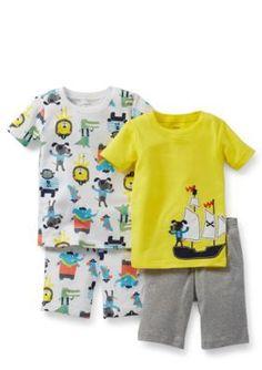 Carters  4-Piece Animal Pirate Pajama Set