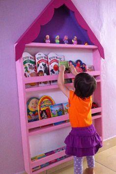 Super cute kids bookshelves. kids reading nook