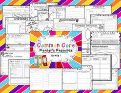 Common Core graphic organizers with the standard listed on them.