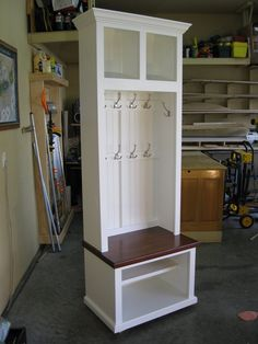 29 Wide Entryway Furniture Mudroom Cabinet Hall Tree with Bench Coat & Hat Rack Mudroom Cabinets, Entryway Cabinet, Entryway Bench Storage, Entryway Furniture, Bench With Storage, Diy Furniture, Hall Tree Bench, Corner Hall Tree, Door Hall Trees