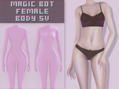 FEMALE BODY 5V - The Sims 4 Download - SimsDomination Sims 3, Sims 4 Mm Cc, Sims Four, Sims 4 Cas, Sims 4 Body Mods, Los Sims 4 Mods, Sims 4 Game Mods, Sims 4 Body Hair, Sims Games