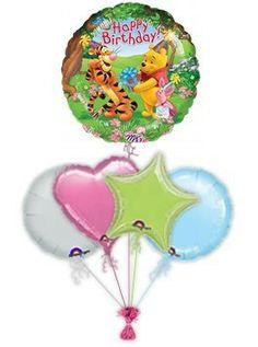 Poohs Birthday Present 40th Balloons 70th Presents Helium