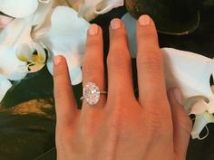 Julianne Hough Shows Off Huge Lorraine Schwartz Engagement Ring … jaw-dropping 6 karat Lorraine Schwartz ring with a gorgeous oval solitaire… Julianne Hough Engagement Ring, Celebrity Engagement Rings, Blake Lively Engagement Ring, Celebrity Rings, Oval Solitaire Engagement Ring, Engagement Ring Settings, Solitaire Rings, Solitaire Diamond, Large Engagement Rings