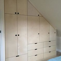 Bespoke birch ply wardrobe with a mix of hanging space, drawers an… All finished. Bespoke birch ply wardrobe with a mix of hanging space, drawers and adjustable shelving all finished in a sheen lacquer. Woodworking For Kids, Woodworking Basics, Woodworking Furniture, Woodworking Plans, Woodworking Jigsaw, Woodworking Quotes, Woodworking Joints, Woodworking Workshop, Woodworking Supplies