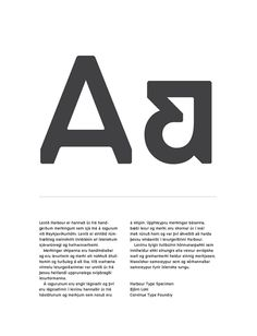 Harbour Typeface on Typography Served