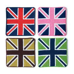 British Flag Coaster Set l Just in time for the Olympics