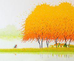 """работы вьетнамской художницы Фэн Тчу Транг (Phan Thu Trang) масло приём """"импасто"""""""
