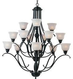 Maxim Lighting - 11809ICBK - Linda Black 15 Light Chandelier