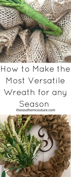 Learn how to make the most versatile wreath for any season with just a few supplies and an easy tip that only takes a few minutes to complete.