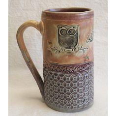by desert NOVA___handmade owl ceramic coffee mug stoneware Stoneware Mugs, Ceramic Cups, Ceramic Art, Pottery Mugs, Ceramic Pottery, Pottery Art, Clay Mugs, Hand Built Pottery, Pottery Designs