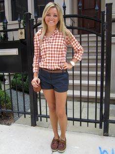 Shirt: J.Crew Shorts: J.Crew Belt: Akira (similar) Shoes: Sperry Top-Sider Bag: Michael Kors (similar) Watch: Michael Kors Sunglasses: Ray-Ban (similar) Nails: OPI Lincoln Park After Dark