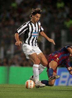 Zlatan Ibrahimovic during Juventus' victory over Barcelona