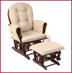 Nursing Rocker w Foot Rest Stool Rocking Chair Breastfeeding Nursery Feeding