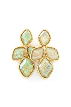 Fashion Jewelry Earrings Online | Buy Earrings Online | Emma Stine--Jupiter Earrings in Soft Mint
