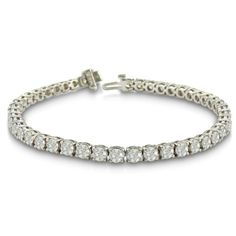 IMPRESSIVE 10 Carat Diamond Round Setting Tennis Bracelet in 14 Karat White Gold Includes Free Blitz Jewelry Cleaner SuperJeweler, http://www.amazon.com/dp/B004F8LHDC/ref=cm_sw_r_pi_dp_qMJ0qb0QWHES0