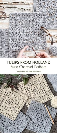 # crochet motif square afghans Poly or Mono: That is the Question Crochet Motifs, Crochet Blocks, Granny Square Crochet Pattern, Crochet Squares, Crochet Blanket Patterns, Crochet Stitches, Knitting Patterns, Crochet Blankets, Afghan Patterns