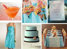 Orange and teal wedding...FOR ELAINA