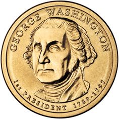 Washington one dollar coin