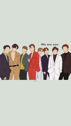 Exo Group Photo, Exo Stickers, Exo Songs, Old Letters, Exo Fan Art, Suho Exo, Exo Members, Wallpaper Backgrounds, Wallpapers
