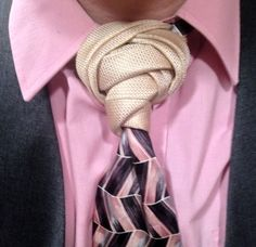 I love how you can see every fold and layer of this necktie knot.