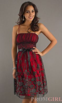 Knee Length Homecoming Dress, Modest Semi Formal Dress- PromGirl