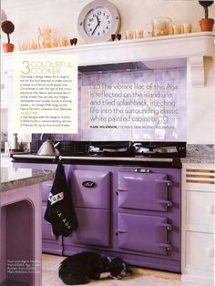 Purple stove!