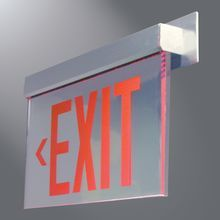 Wall Mounted Exit Lights : Sure-Lites EU Series edge-lit exit sign http://www.cooperindustries.com/content/public/en ...