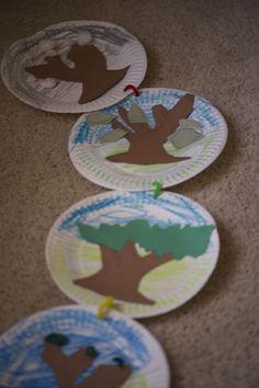 Four Seasons plates - great idea for teaching seasons!