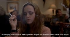 Image uploaded by Find images and videos about movies, subtitles and prozac nation on We Heart It - the app to get lost in what you love. Prozac Nation, Women Smoking, Girl Smoking, Famous Movie Quotes, Tv Quotes, Heavy Heart, True Romance, Tumblr, Christina Ricci