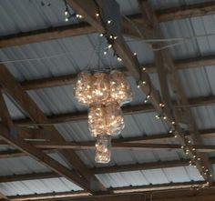 Mason Jar chandelier,  Uniquely Yours Wedding Design
