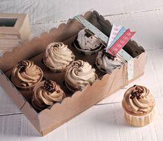 Caja para 6 cupcakes decorada