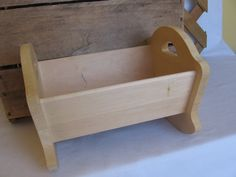 Unfinished Wood Cradle for 8 Doll Small Cradle by MyVintageTable, $20.00