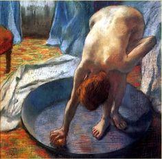 Le Tub, 1886. Pastel sur papier, Edgar Degas ______________________________ ♥♥♥ deniseweb.free.fr ♥♥♥