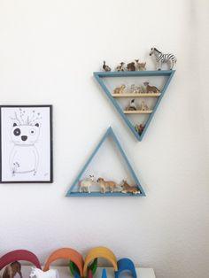 Kinderzimmer Schleich Dreieck Regal DIY Anleitung Kostenlos