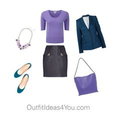 How To Wear Periwinkle For A Soft Summer Light. Periwinkle is a great color for a toned summer. Keep it simple with navy.