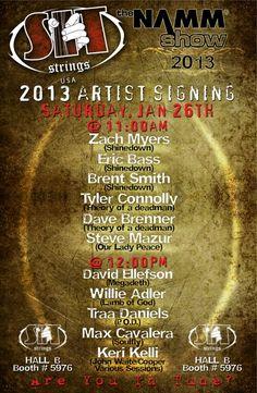 NAMM 2013: SIT Strings Artist Appearance Schedule