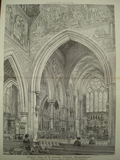 Interior of St. Peter's Church , Bournemouth, Dorset, England, UK, 1884, Lawson & Donkin