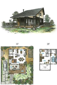 Small Japanese House, Japanese Home Design, Japanese Style House, Traditional Japanese House, House Layout Plans, House Layouts, House Plans, Building Layout, Building A House
