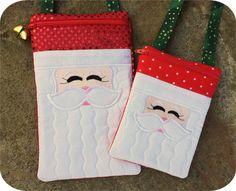 In The Hoop :: Santa Purse Set - Embroidery Garden In the Hoop Machine Embroidery Designs