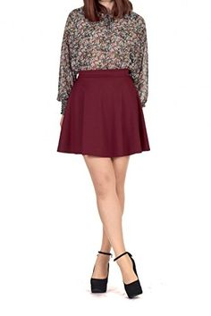 Special Offer: $16.90 amazon.com A must-have skater skirt has come! Basic but special skater skirt with moderate short length, skirt width not too narrow and not too wide, lovely A-line silhouette and the attractive colors. For all seasons, for all occasions, you must have...