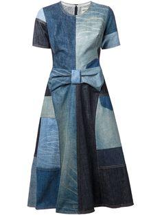 lyst junya watanabe patchwork denim dress in blue Fashion Sewing, Denim Fashion, Fashion Outfits, Fashion Ideas, Denim Patchwork, Patchwork Dress, Sewing Clothes, Diy Clothes, Diy Vetement