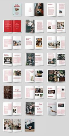 Coffee Culture Magazine by ThomasMakesStuff on Creative Market – fashion editorial layout Magazine Layout Inspiration, Layout Design Inspiration, Magazine Layout Design, Book Design Layout, Book Cover Design, Food Magazine Layout, Magazine Cover Layout, Print Layout, Design Ideas