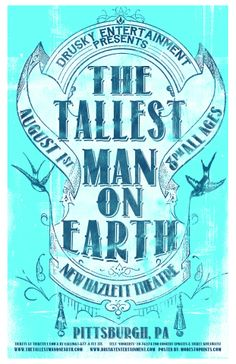 The Tallest Man on Earth - Pittsburgh gig poster