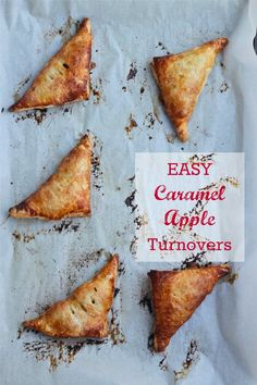 Easy Caramel Apple Turnovers