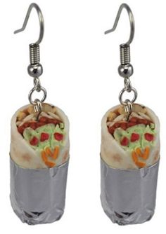 Amazon Oddities 8/20/16 -- Burrito Earrings http://www.mashupmom.com/amazon-oddities-82016-burrito-earrings/