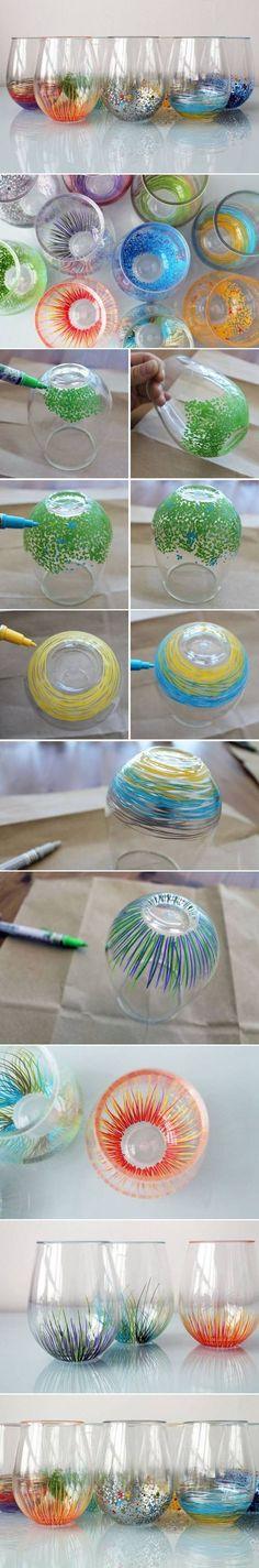 DIY Bright Color Vase Decor DIY Projects / UsefulDIY.com