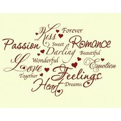 "Style and Apply Love Romance Wall Decal Size: 37"" H x 59"" W, Color: Dark Green"