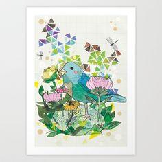 Little Bird Art Print by Jo Cheung Illustration - $15.08