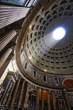 Pantheon, Rome, Italy. (MoA) It really is a beautiful building. The skylight is amazing :) #athena